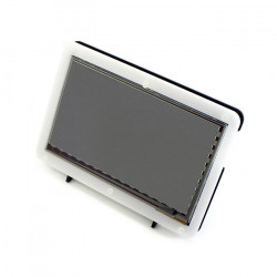 Ekran dotykowy pojemnościowy LCD TFT 7'' 1024x600px HDMI + USB dla Raspberry Pi 2/B+ + obudowa czarno-biała