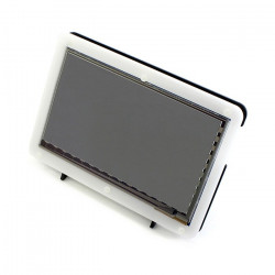 "Touch screen capacitive LCD TFT screen 7"" 800x480px HDMI + USB for Raspberry Pi 2/B+ + case black and white"