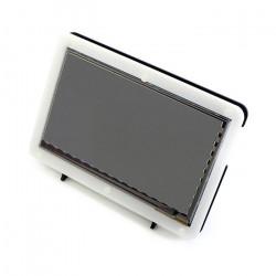 Ekran dotykowy pojemnościowy LCD TFT 7'' 800x480px HDMI + USB dla Raspberry Pi 2/B+ + obudowa czarno-biała