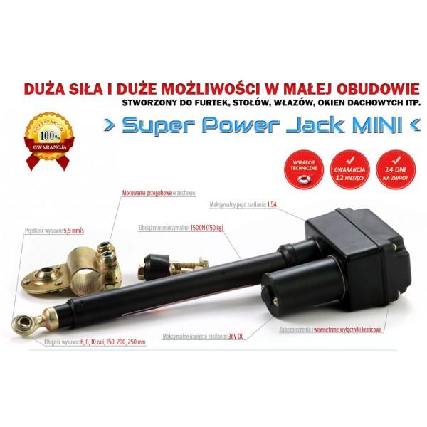 Linear Actuator Super Power Jack Mini 1500N 5,4mm/s 36V - 20cm stroke_