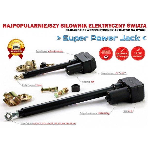 Linear Actuator Super Power Jack 3000n 7 5mm  S