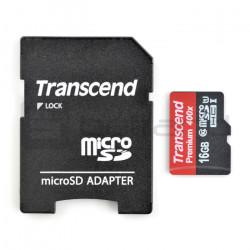 Karta pamięci Transcend Premium 400x micro SD / SDHC 16GB UHS-I klasa 10 z adapterem