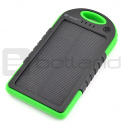 Mobilna bateria PowerBank Tracer Solar Mobile battery Green 5000mAh