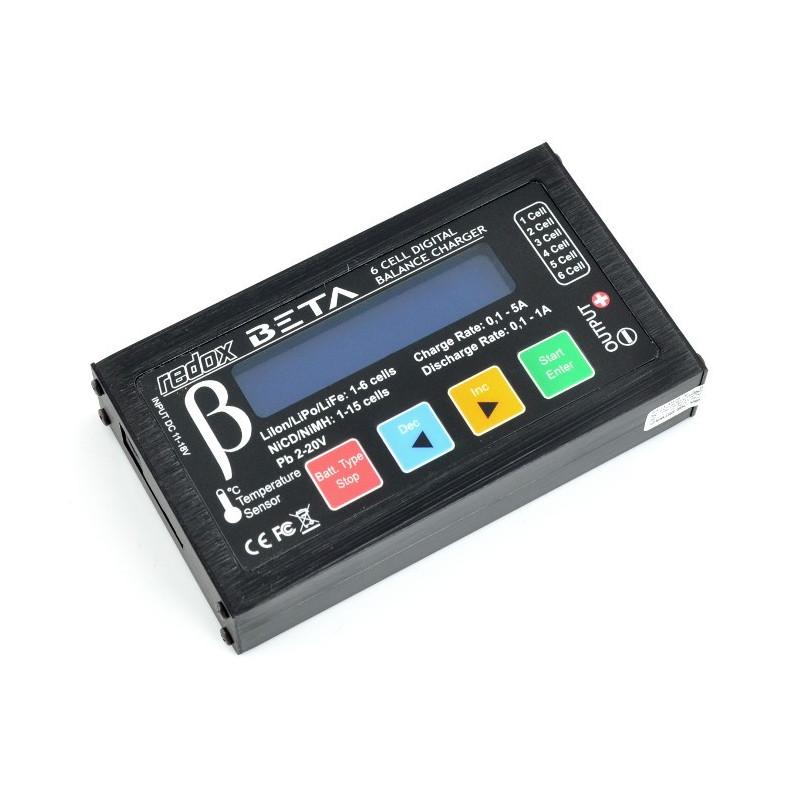 Charger Li-Po / Li-Fe / Li-Ion / Ni-CD / Ni-MH with balancer - Redox Beta