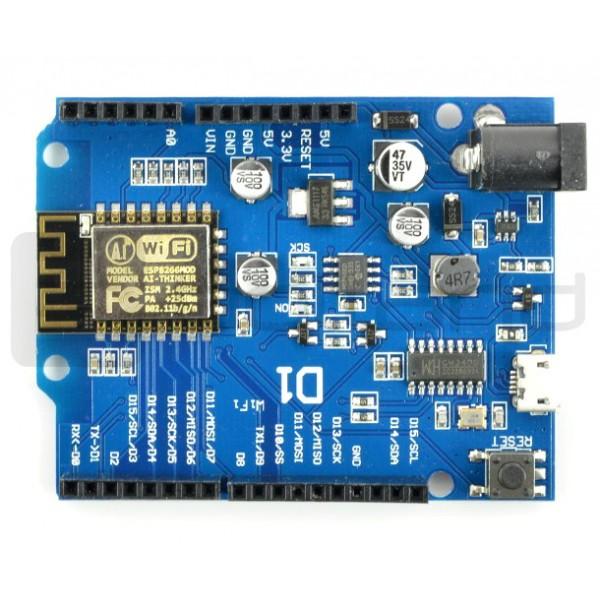 D1 R2 WiFi ESP8266 - zgodny z WeMos i Arduino