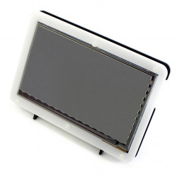 "Enclosure for Raspberry Pi LCD screen TFT 7"" HDMI black and white"