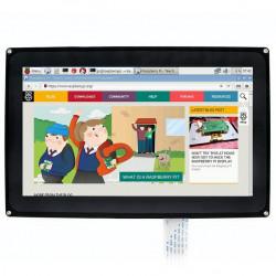 Ekran dotykowy pojemnościowy LCD TFT 10,1'' 1024x600px dla Raspberry Pi 3/2/B+ + obudowa