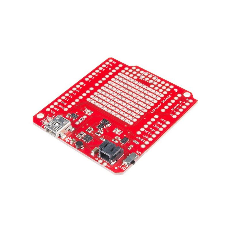 LiPower Shield - zasilanie Arduino z akumulatora LiPol - moduł SparFun