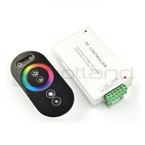 Sterownik taśm i pasków LED RGB z dotykowym pilotem RF