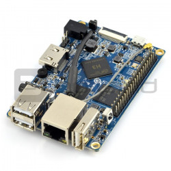 Orange Pi PC Plus - Alwinner H3 Quad-Core 1GB RAM + 8GB EMMC