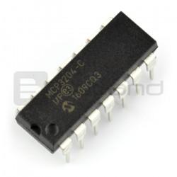 Przetwornik A/C MCP3204-CI/P 12-bitowy 4-kanałowy SPI - DIP