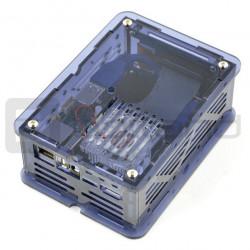 CloudShell dla Odroid XU4 - elementy do budowy serwera plików NAS - niebieski