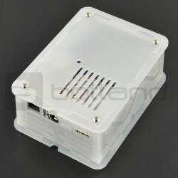 CloudShell dla Odroid XU4 - elementy do budowy serwera plików NAS - przezroczysty
