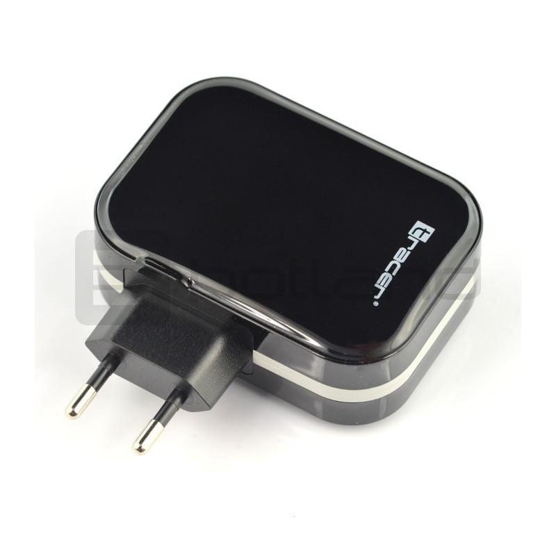 Universal USB charger Tracer 4x USB 5V 6,8A - black