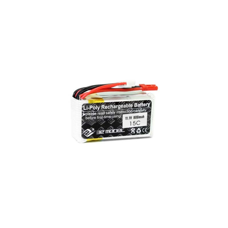 Package LiPol 3E Model 800mAh 15C 3S 11.1V