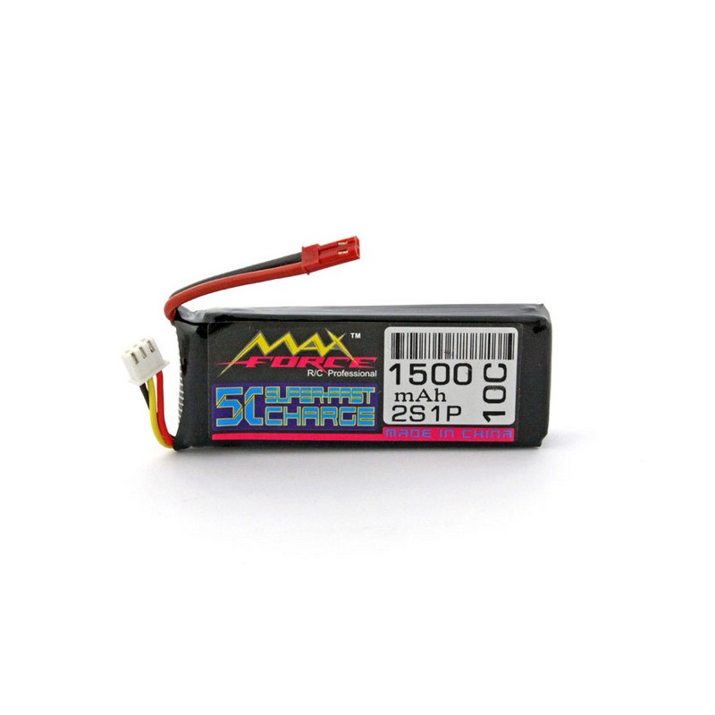 Package Li-Pol 3E Model Max Force 1500mAh 10C 2S 7.4V