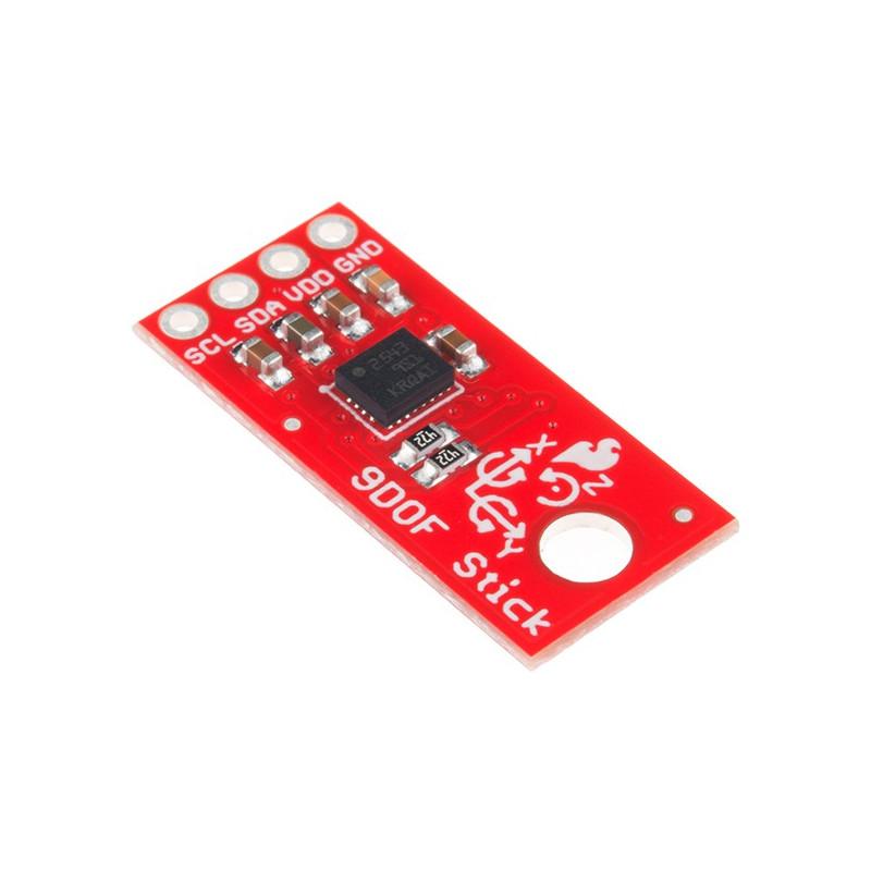 SparkFun LSM9DS1 Sensor Stick IMU 9DoF - 3-osiowy akcelerometr, żyroskop i magnetometr I2C