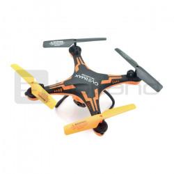 Dron quadrocopter OverMax X-Bee drone 3.1 plus wi-fi 2.4GHz z kamerą FPV czarno-pomarańczowy - 34cm + 2 dodatkowe akumulatory