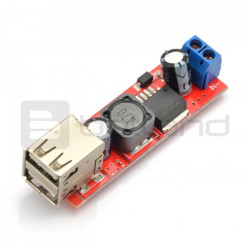 Przetwornica step-down 5V 3 A z dwoma gniazdami USB