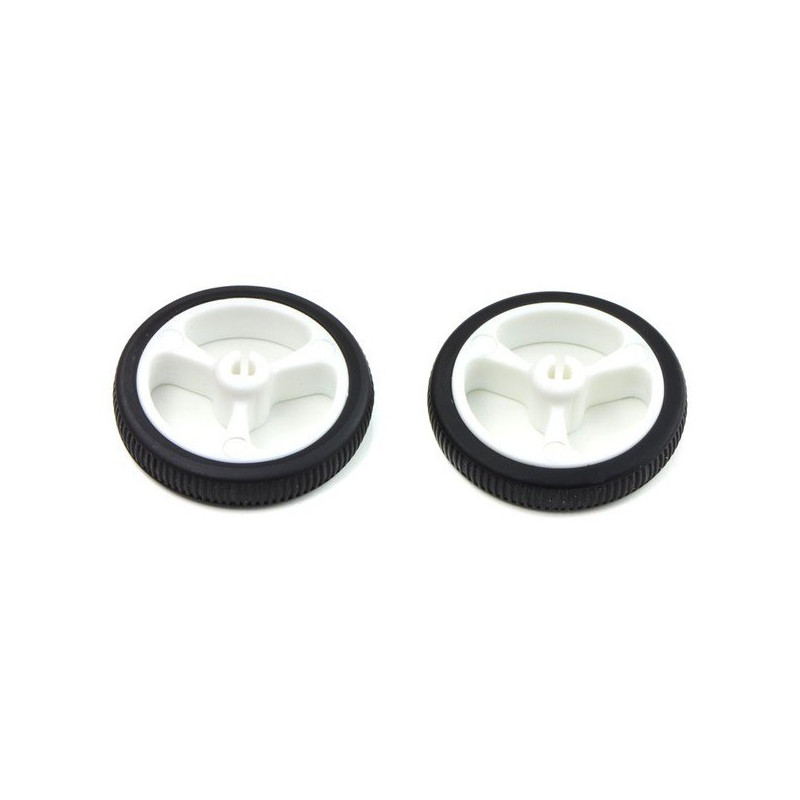 Wheel 32x7 mm - white - 2 pieces - Pololu 1088*