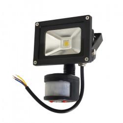 Lampa zewnętrzna LED ART z sesorem ruchu, 10W, 600lm, IP65, AC80-265V, 4000K - biała neutralna
