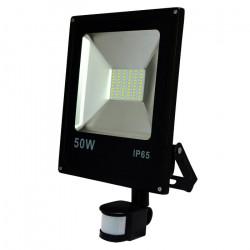 Lampa zewnętrzna LED ART SMD PIR z czujnkiem ruchu, 50W, 3000lm, IP65, AC80-265V, 4000K - biała neutralna