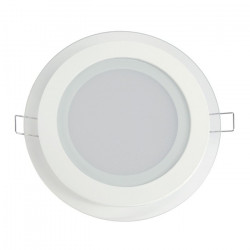 Panel LED ART glass round 16cm, 12W, 800lm, AC230V, 3000K - warm white
