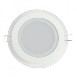 Panel LED ART szklany okrągły 16cm, 12W, 800lm, AC80-265V, 3000K - biała ciepła