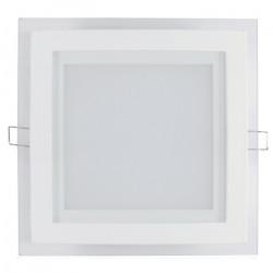 Panel LED ART szklany kwadratowy 20x20cm, 16W, 1000lm, AC80-265V, 3000K - biała ciepła