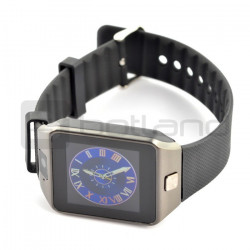 SmartWatch DZ09 SIM czarny - inteligetny zegarek z funkcją telefonu