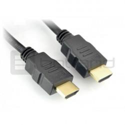 Przewód HDMI klasa 1.4 - czarny dł. 35cm