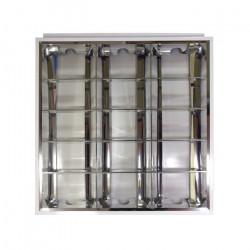 Oprawa rastrowa, 3x tuba LED ART T8 60cm, AC230V, podtynkowa, 60x60cm