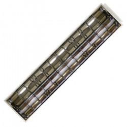 Oprawa rastrowa, 2x tuba LED ART T8 120cm, AC230V, podtynkowa, 120x30cm