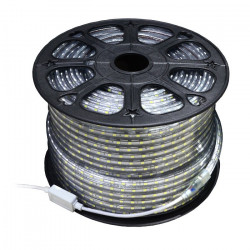 Pasek LED SMD3528 IP65 4,8W, 60 diod/m, 12mm, AC230V, biały-ciepły - 50m