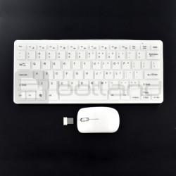Zestaw bezprzewodowy Mini Keyboard K800C klawiatura + mysz - biała