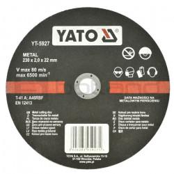 Tarcza do cięcia metalu Yato YT-5927 - 230x2mm