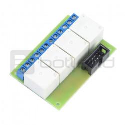 Płytka przekaźników 10A x 4 do GSM/LAN kontrolera - 5V