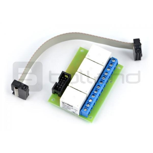 Tinycontrol GSMKON-006 - relay module 4x 10A / 5V coil for GSM / LAN  controller_