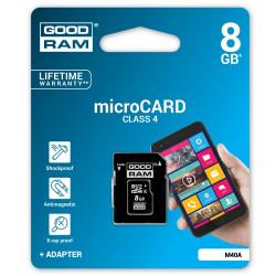 Karta pamięci Goodram micro SD / SDHC 8GB klasa 4 z adapterem