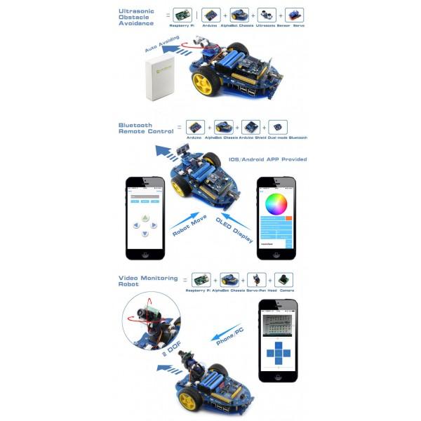 AlphaBot, Basic robot building kit for Arduino_