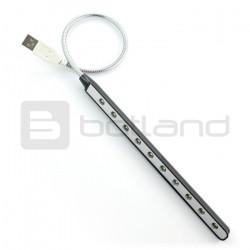Lampka SC-L03 10 LED giętka na USB - czarna
