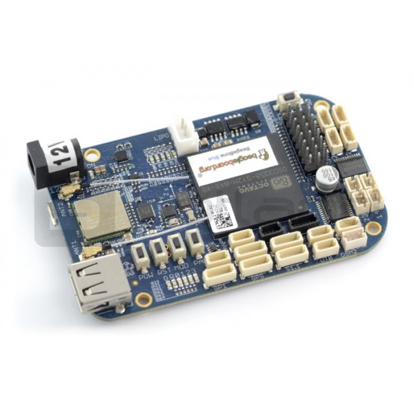 BeagleBone Blue 1GHz, 512MB RAM + 4GB Flash, WiFi, Bluetooth and sensor  connectors_