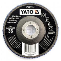 Tarcza ściernica listkowa Yato YT-83331 - wypukła - 125x9mm