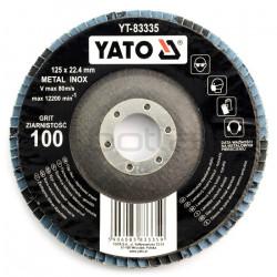 Tarcza ściernica listkowa Yato YT-83335 - wypukła - 125x7mm