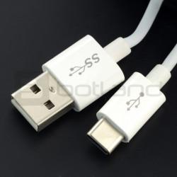 Przewód USB 2.0 typ A - USB 2.0 typ C Tracer - 1,5m biały
