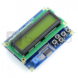 LCD 1602 Keypad for Raspberry Pi, with User Keys & I2C Interface + 3D Printed Housing
