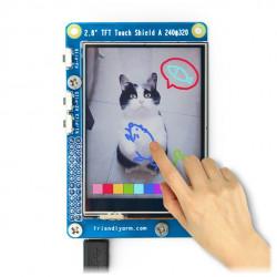 Wyświetlacz dotykowy 2.8'' TFT Shield dla NanoPi