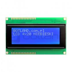 Wyświetlacz LCD 4x20 znaków niebieski - podwójne złącze