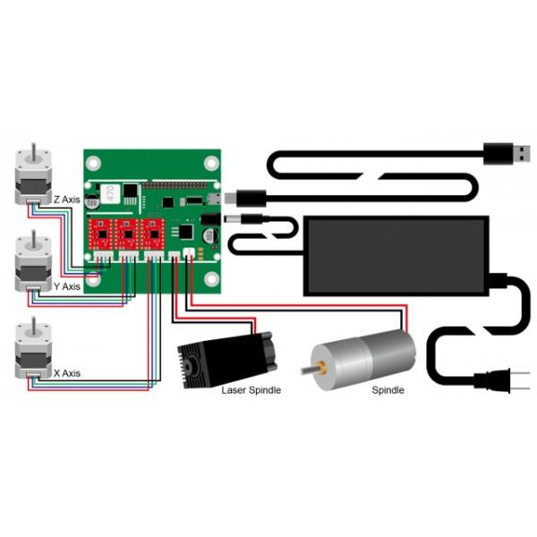 LinkSprite - 3-osiowa maszyna CNC do grawerowania
