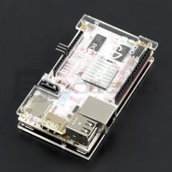 LinkSprite - Obudowa pcDuino3 Nano - przezroczysta otwarta + radiator